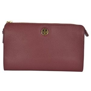 Tory Burch Brody Pebbled Wallet Crossbody